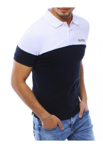 Stylová pánská polokošile bílo-modré barvy