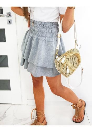 Dámská sukně s gumičkou v pase v světle šedé barvě