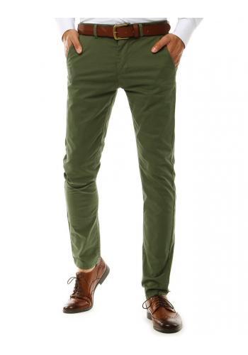 Pánské Chinos kalhoty v zelené barvě