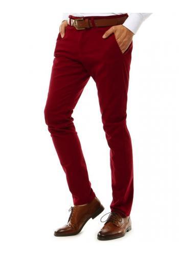 Elegantní pánské Chinos kalhoty červené barvy