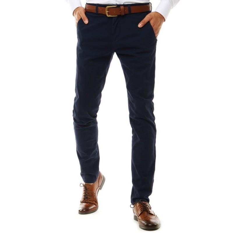 Pánské elegantní Chinos kalhoty v tmavě modré barvě