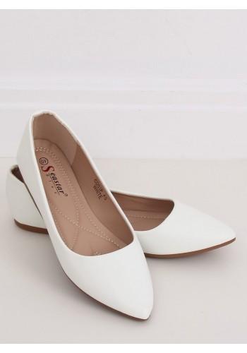 Bílé klasické baleríny pro dámy