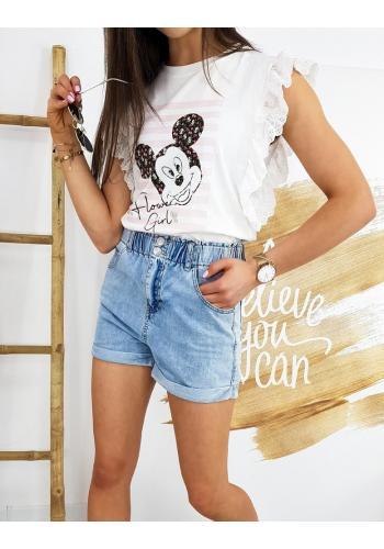 Dámské stylové tričko s pohádkovým motivem v bílé barvě