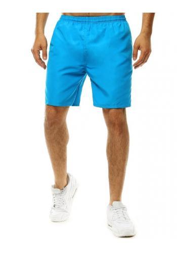 Koupací pánské šortky tyrkysové barvy s pásy na bocích