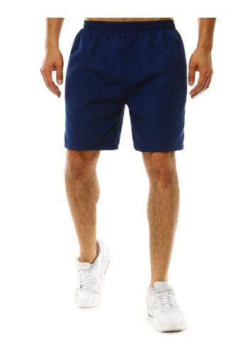 Pánské koupací šortky s pásy na bocích v modré barvě