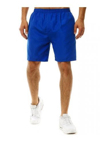 Modré koupací šortky s pásy na bocích pro pány