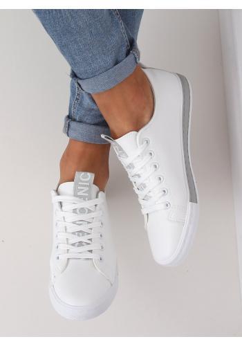 Klasické dámské tenisky bílo-šedé barvy