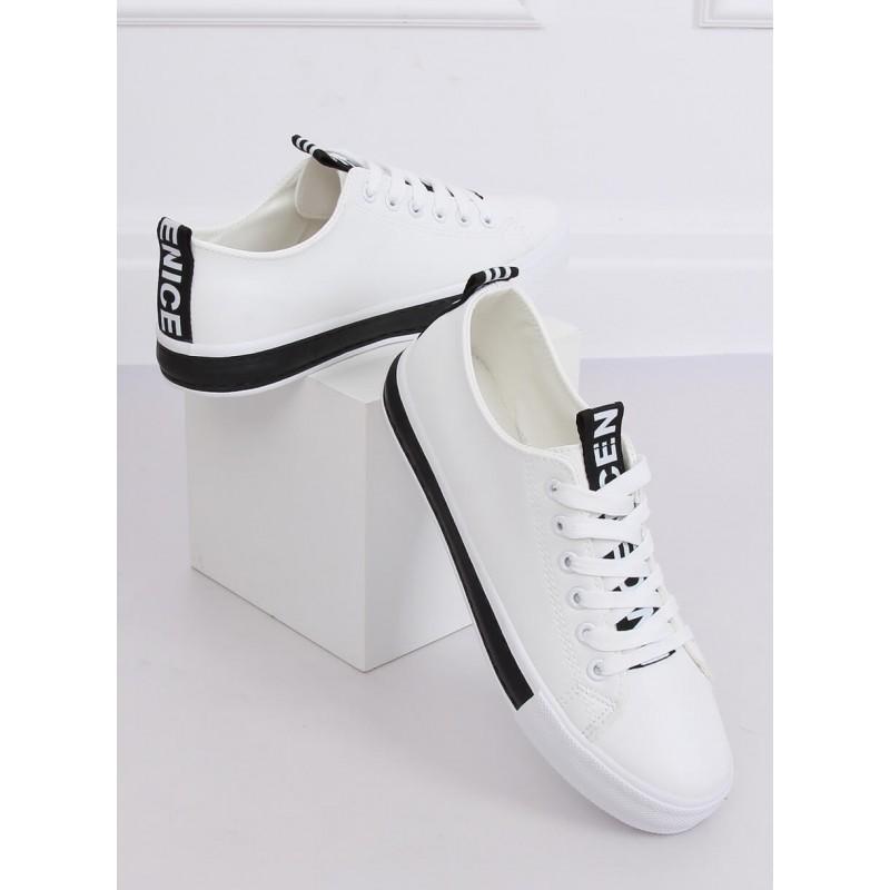 Dámské klasické tenisky v bílo-černé barvě