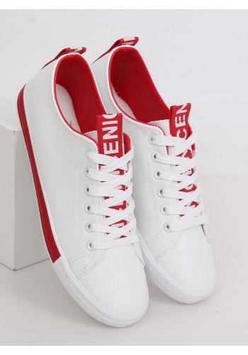 Dámské klasické tenisky v bílo-červené barvě
