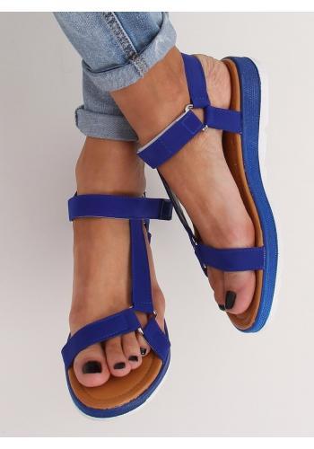 Módní dámské sandály tmavě modré barvy se suchým zipem