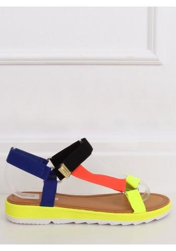 Barevné módní sandály se suchým zipem pro dámy