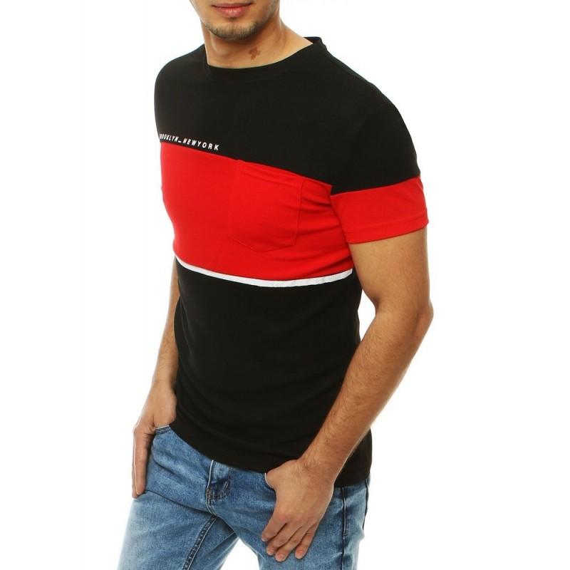 Pánské stylové tričko s kapsou na hrudi v černé barvě