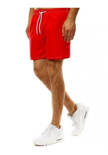 Pánské šortky na koupání s vázáním v červené barvě