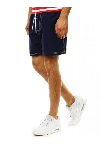 Koupací pánské šortky tmavě modré barvy s kontrastním pásem