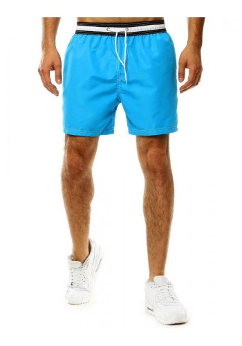 Koupací pánské šortky světle modré barvy s kontrastním pásem