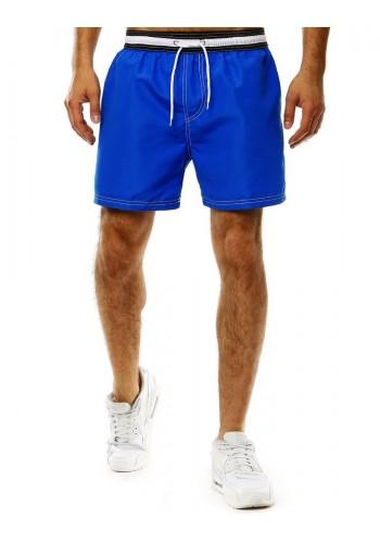 Pánské koupací šortky s kontrastním pásem v modré barvě
