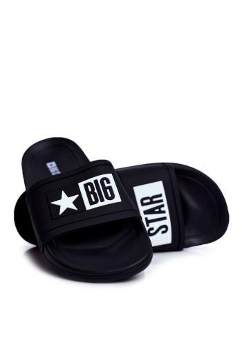 Pánské gumové pantofle Big Star v černé barvě