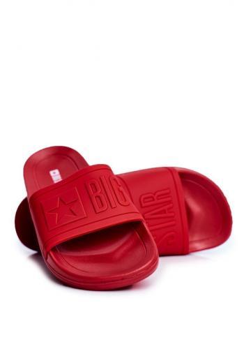 Červené gumové pantofle Big Star pro pány