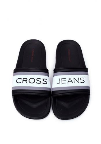 Pánské gumové pantofle Cross Jeans v černé barvě