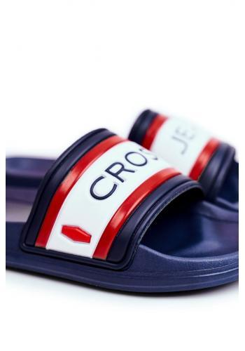 Tmavě modré gumové pantofle Cross Jeans pro pány