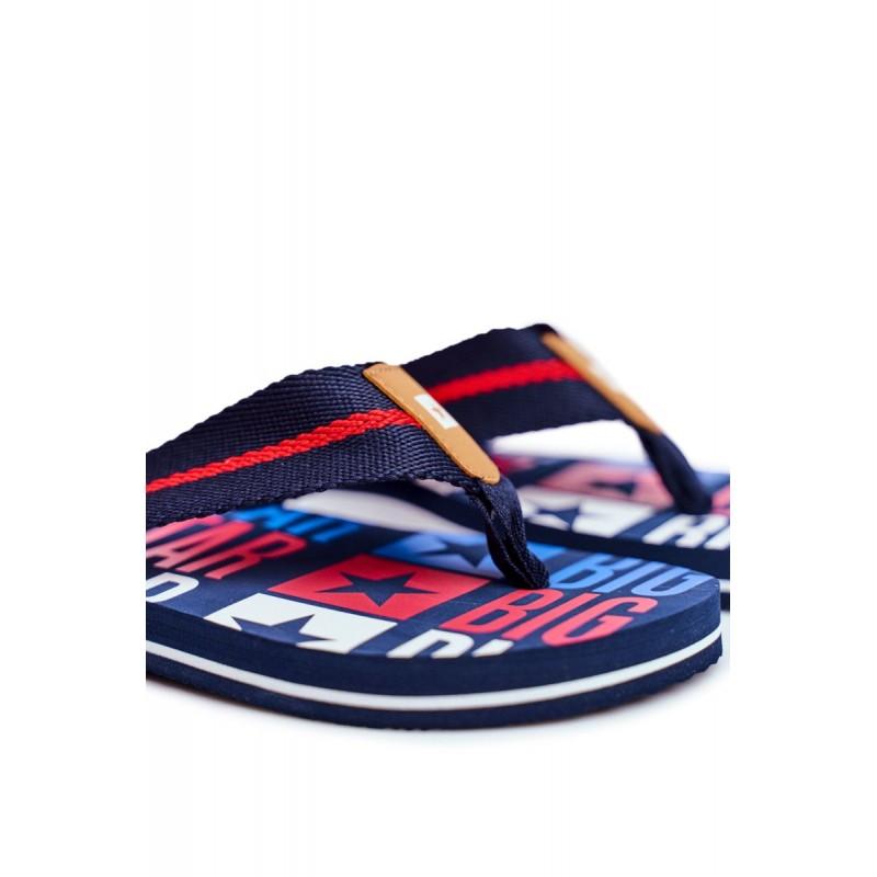 Pánské stylové žabky Big Star s pěnovou podrážkou v tmavě modré barvě