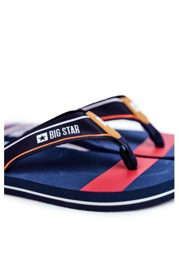 Tmavě modré stylové žabky Big Star pro pány