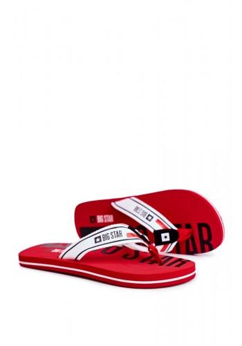 Pánské stylové žabky Big Star v červené barvě