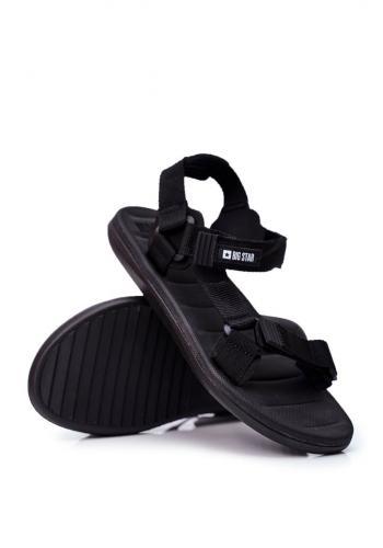 Sportovní pánské sandály Big Star černé barvy