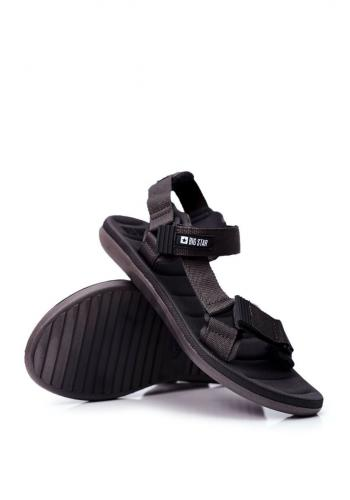 Pánské sportovní sandály Big Star v šedé barvě