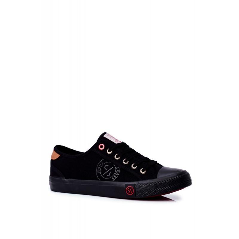 Pánské plátěné tramky Cross Jeans v černé barvě