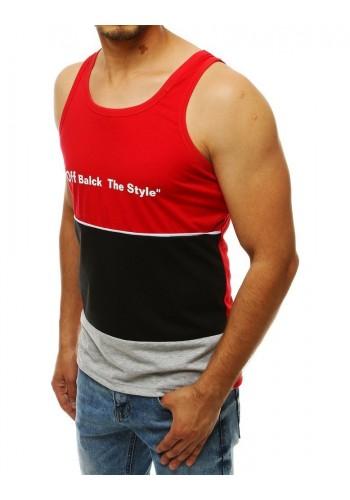 Pánské sportovní tričko s potiskem v červené barvě
