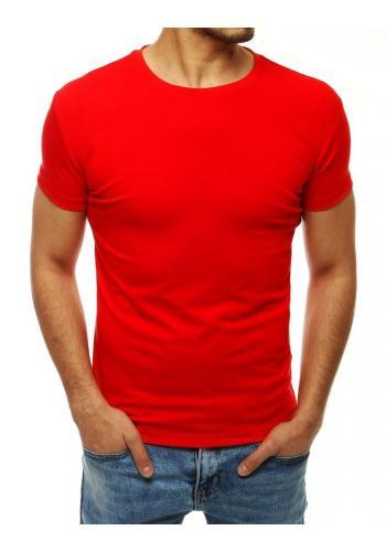 Červené klasické tričko s krátkým rukávem pro pány
