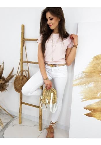 Klasické dámské tričko růžové barvy s krátkým rukávem