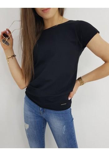 Dámské klasické tričko s krátkým rukávem v černé barvě