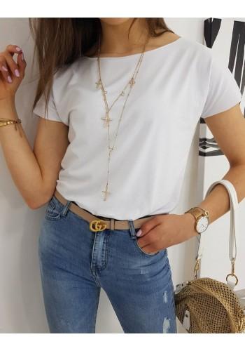 Bílé klasické tričko s krátkým rukávem pro dámy