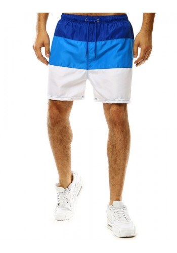 Modro-bílé šortky na koupání s vázáním pro pány