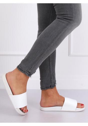 Bílé gumové pantofle pro dámy