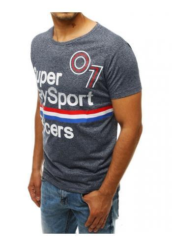 Sportovní pánské tričko tmavě modré barvy s potiskem