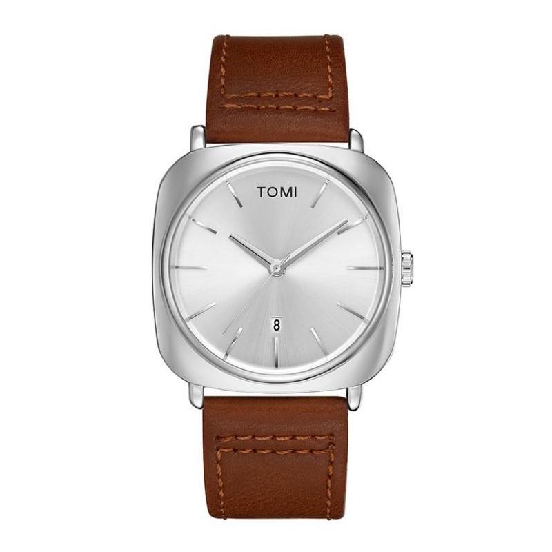 Hnědé retro hodinky Tomi pro pány