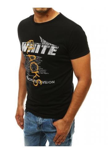 Černé módní tričko s potiskem pro pány