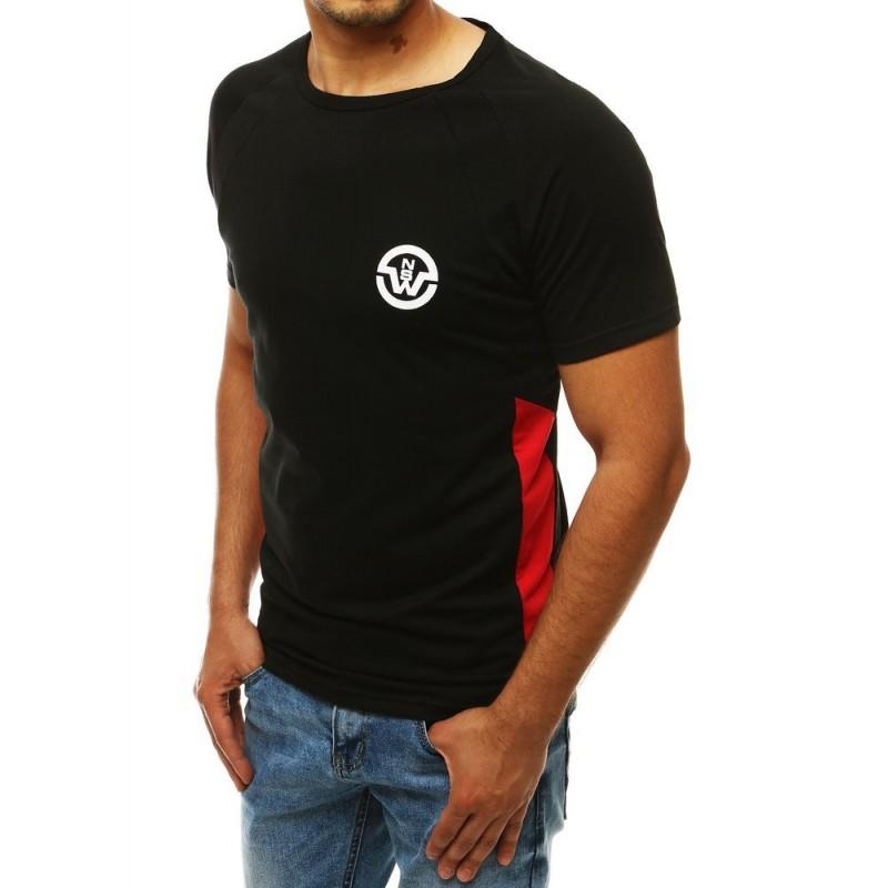 Černé sportovní tričko s potiskem pro pány