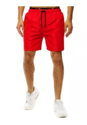Šortky na koupání pro pány červené barvy