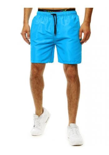 Pánské šortky na koupání v tyrkysové barvě