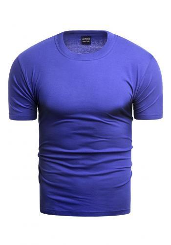 Klasické pánské tričko modré barvy s krátkým rukávem