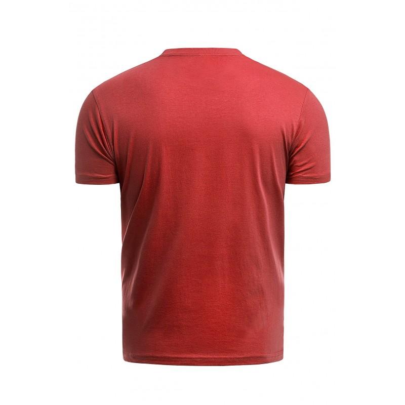 Červené bavlněné triko s krátkým rukávem pro pány