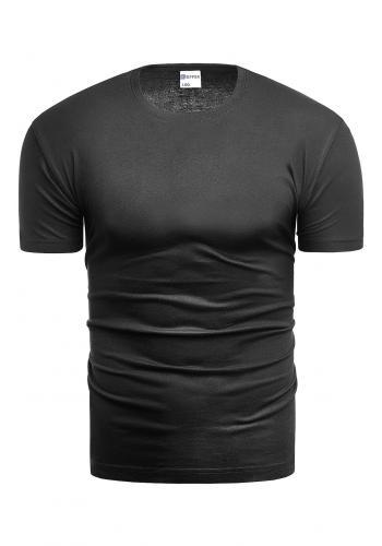 Pánské klasické trička s krátkým rukávem v černé barvě