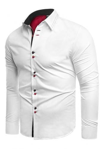 Bílá elegantní košile slim fit pro pány