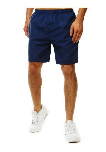 Měnící se pánské šortky tmavě modré barvy na koupání