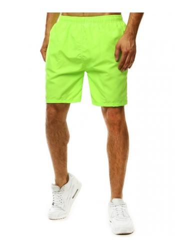 Měnící se pánské šortky zelené barvy na koupání