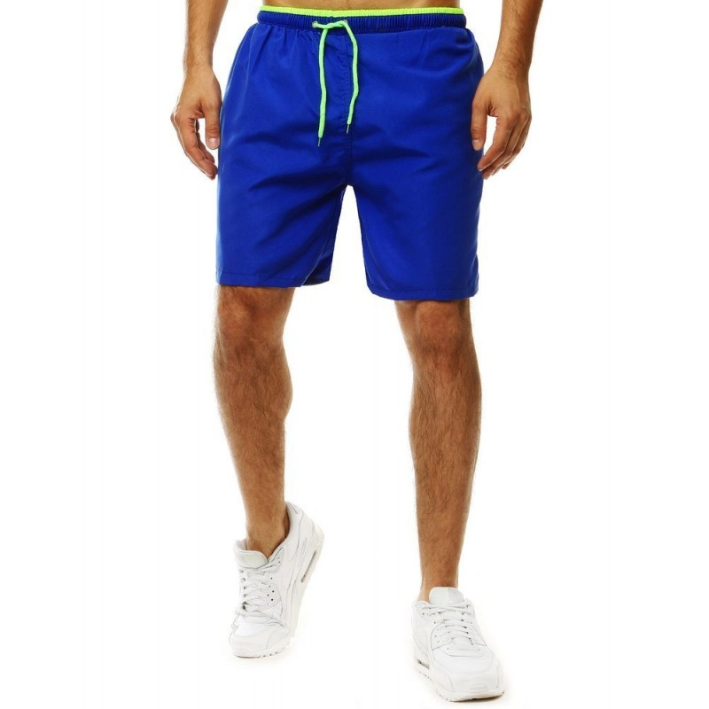Pánské koupací šortky s kontrastním detailem v modré barvě